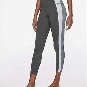 Athleta Colorblock Asym Powervita 7/8 Legging Yoga